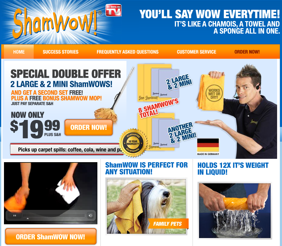 new offer shamwow cpa prosperity s blog